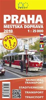 Praha-městská doprava 2018. 1 : 25 000