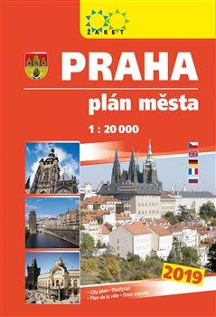 Praha - knižní plán města 2019. 1:20 000