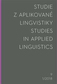 Studie z aplikované lingvistiky 1/2018