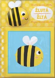 Chrastící barevná zvířátka Žlutá