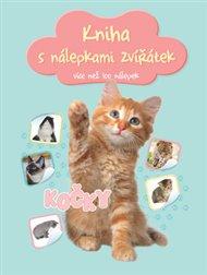 Kniha s nálepkami zvířátek Kočky