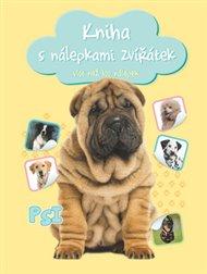 Kniha s nálepkami zvířátek Psi