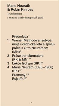 Obálka titulu Transformátor: principy tvorby Isotypových grafů
