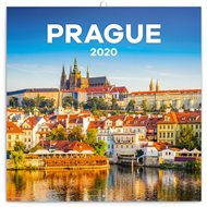 Poznámkový kalendář Praha 2020, 30 × 30 cm