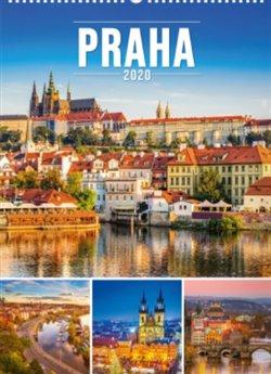 Obálka titulu Nástěnný kalendář Praha 2020, 33 × 46 cm