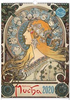 Obálka titulu Nástěnný kalendář Alfons Mucha 2020, 33 × 46 cm