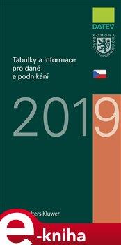 Obálka titulu Tabulky a informace pro daně a podnikání 2019