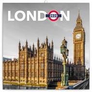 Poznámkový kalendář Londýn 2020, 30 × 30 cm