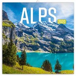 Obálka titulu Poznámkový kalendář Alpy 2020, 30 × 30 cm