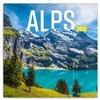 Obálka knihy Poznámkový kalendář Alpy 2020, 30 × 30 cm