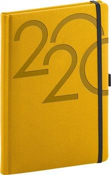 Denní diář Ajax 2020, zlatý, 15 × 21 cm