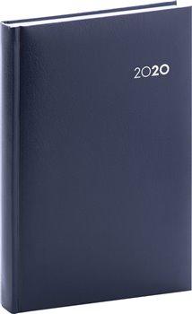 Denní diář Balacron 2020, tmavě modrý, 15 × 21 cm