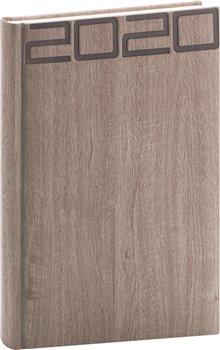 Obálka titulu Denní diář Forest 2020, hnědý, 15 × 21 cm