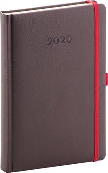 Denní diář Luzern 2020, mahagonový 15 × 21 cm