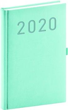 Denní diář Vivella Fun 2020, tyrkysový, 15 × 21 cm
