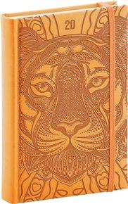 Denní diář Vivella Speciál 2020, tygr 15 × 21 cm