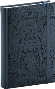 Denní diář Vivella Speciál 2020, slon 15 × 21 cm