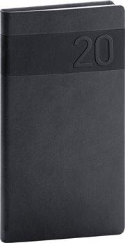Kapesní diář Aprint 2020, černý, 9 × 15,5 cm