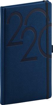Kapesní diář Ajax 2020, modrý, 9 × 15,5 cm