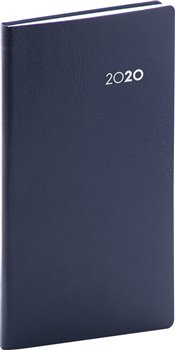 Kapesní diář Balacron 2020, černý, 9 × 15,5 cm