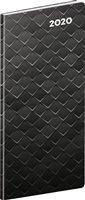 Obálka knihy Kapesní diář Černý kov 2020, plánovací měsíční, 8 × 18 cm