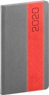 Obálka knihy Kapesní diář Davos 2020, šedočervený, 9 × 15,5 cm