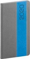 Obálka knihy Kapesní diář Davos 2020, šedomodrý, 9 × 15,5 cm