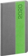 Obálka knihy Kapesní diář Davos 2020, šedozelený, 9 × 15,5 cm