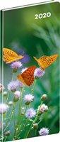 Obálka knihy Kapesní diář Motýli 2020, plánovací měsíční, 8 × 18 cm