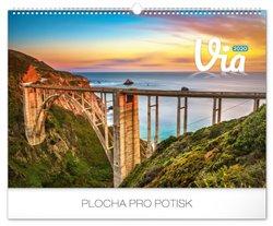 Obálka titulu Nástěnný kalendář Cesty 2020, 48 × 33 cm