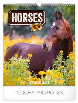 Nástěnný kalendář Koně 2020, 30 × 34 cm