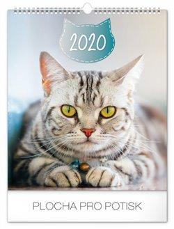 Obálka titulu Nástěnný kalendář Kočky 2020, 30 × 34 cm