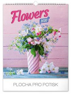 Nástěnný kalendář Květiny 2020, 30 × 34 cm