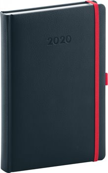 Denní diář Luzern 2020, indigový 15 × 21 cm
