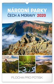 Obálka titulu Nástěnný kalendář Národní parky Čech a Moravy 2020, 33 × 46 cm