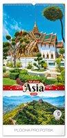 Obálka knihy Nástěnný kalendář Zaostřeno na Asii 2020, 33 × 64 cm