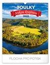 Obálka knihy Nástěnný kalendář Toulky českou krajinou 2020, 30 × 34 cm