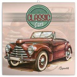 Obálka titulu Poznámkový kalendář Classic Cars – Václav Zapadlík, 2020, 30 × 30 cm