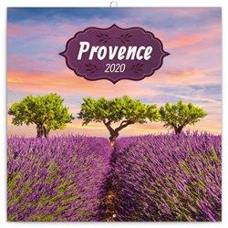 Obálka titulu Poznámkový kalendář Provence 2020, voňavý, 30 × 30 cm