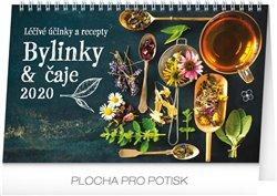 Stolní kalendář Bylinky a čaje 2020, 23,1 × 14,5 cm