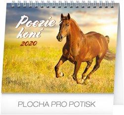 Obálka titulu Stolní kalendář Poezie koní 2020, 16,5 × 13 cm