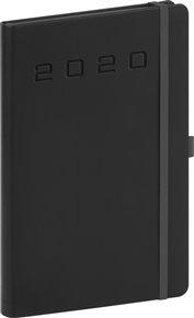 Týdenní diář Nox 2020, černý 15 × 21 cm