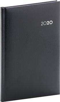 Týdenní diář Balacron 2020, černý, 15 × 21 cm
