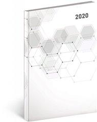 Týdenní diář Cambio Classic 2020, bílý, 15 × 21 cm