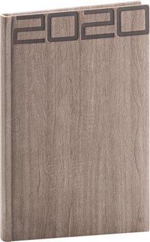 Obálka titulu Týdenní diář Forest 2020, hnědý, 15 × 21 cm