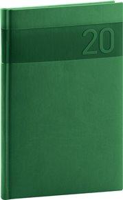 Týdenní diář Aprint 2020, zelený, 15 × 21 cm