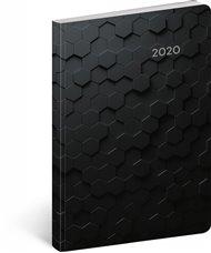 Ultralehký diář Hexagon 2020, 11 × 17 cm