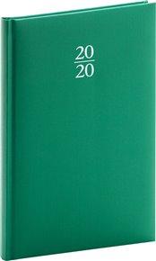 Týdenní diář Capys 2020, zelený, 15 × 21 cm