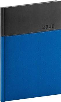 Týdenní diář Dado 2020, modročerný, 15 × 21 cm