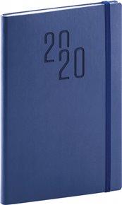 Týdenní diář Soft 2020, modrý, 15 × 21 cm